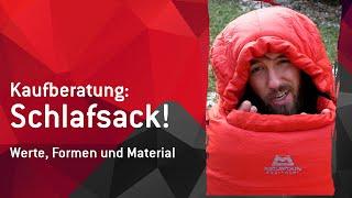 Der Schlafsack: Formen, Werte, Material und Extras!