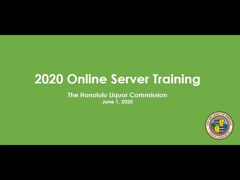 2020 Educational Server Training Video - Additional Resource ...