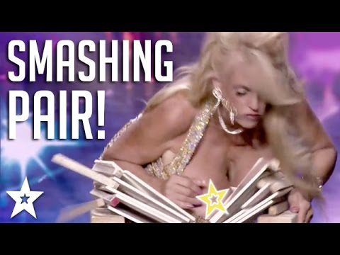 Woman SMASHES OBJECTS with BREASTS! | Got Talent Global