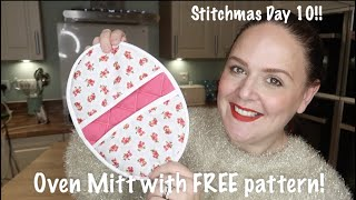 Easy To Sew Oven Mitt And Hot Pad Tutorial! Stitchmas Day 9!