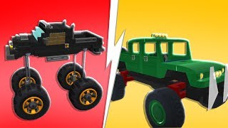 Noob Vs Pro Monster Truck Challenge - Scrap Mechanics | JeromeACE