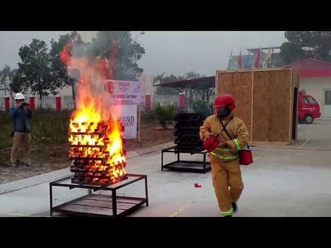 FIRESAVE - Thử nghiệm khả năng chữa cháy bình chữa cháy dạng ném & bình chữa cháy bột 4 kg