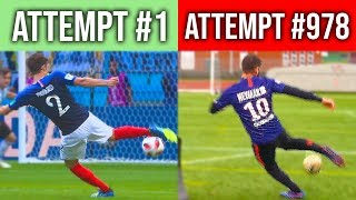 FAMOUS Footballers Scored These Goals ONE attempt..We did them in 1 Hour
