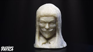 V for Vendetta - Cheese Sculpture