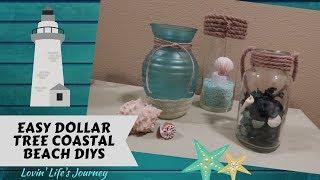 Easy Dollar Tree Coastal Beach Decor DIYs For Less Than $5
