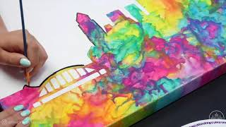 Melted Crayon Watercolor Painting By Zenspire Designs