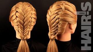 Смотреть онлайн Как заплести французскую косу с колосками