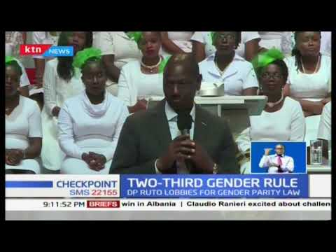 DP Ruto continues lobbying for two-thirds gender rule bill