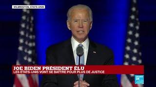 REPLAY – Premier discours de Joe Biden, élu 46e président des États-Unis