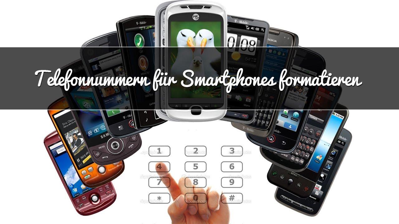 Telefonnummern auf Websites für Smartphones formatieren/optimieren