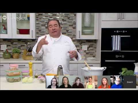 Snapware Winter Warm-Up #SoupInASnap (was) LIVE Google+ Hangout with Chef Emeril Lagasse