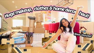 MOVING VLOG 6   Huge PR unboxing, makeup, clothes, home decor, books and more!
