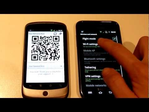 Video of WiFi QR Share