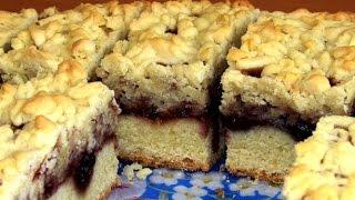 Легкий домашний тертый пирог с вареньем / Рецепт песочного пирога