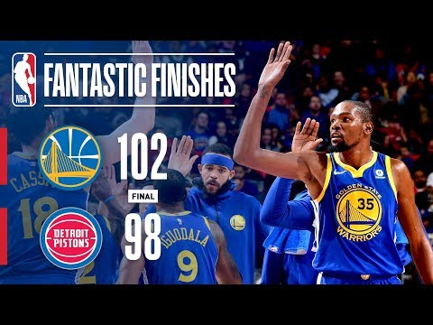 Best of the Warriors and Pistons in the Final Minutes   December 8, 2017