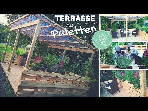 Terrasse aus Paletten selber bauen - Palettenmöbel - Europaletten DIY