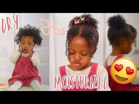 KIDS CURLY HAIR ROUTINE! Transforming My Toddlers Dry & Tangled Hair! *SUPER MOISTURIZED*