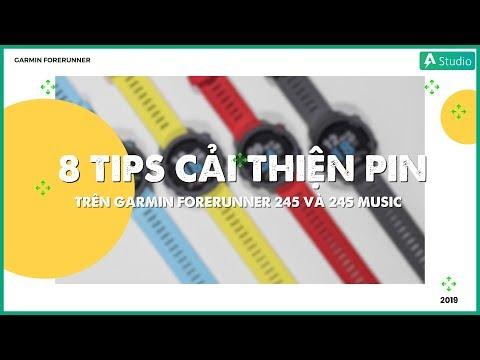 8 tips cải thiện pin trên Garmin Forerunner 245 và 245 music