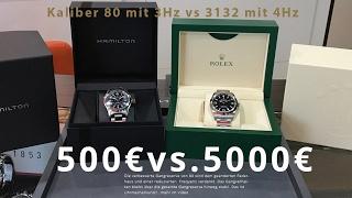 500€ Uhr Vs. 5000€ Uhr - Geht das !?   Rolex Vs. Hamilton   Unboxing, Vergleich und In Depth Review