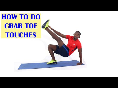 How to Do Crab Toe Touches Exercise