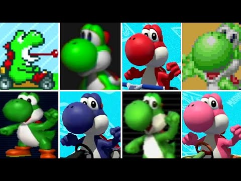 Evolution of Yoshi in Mario Kart Games (1992-2017)