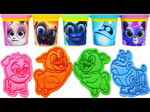 Play-Doh Puppy Dog Pals Molds & keia, Hissy, Rolly, Bingo, ARF