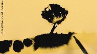 How To Paint With Ink And Water - Amazing Drawings Magically Appearing