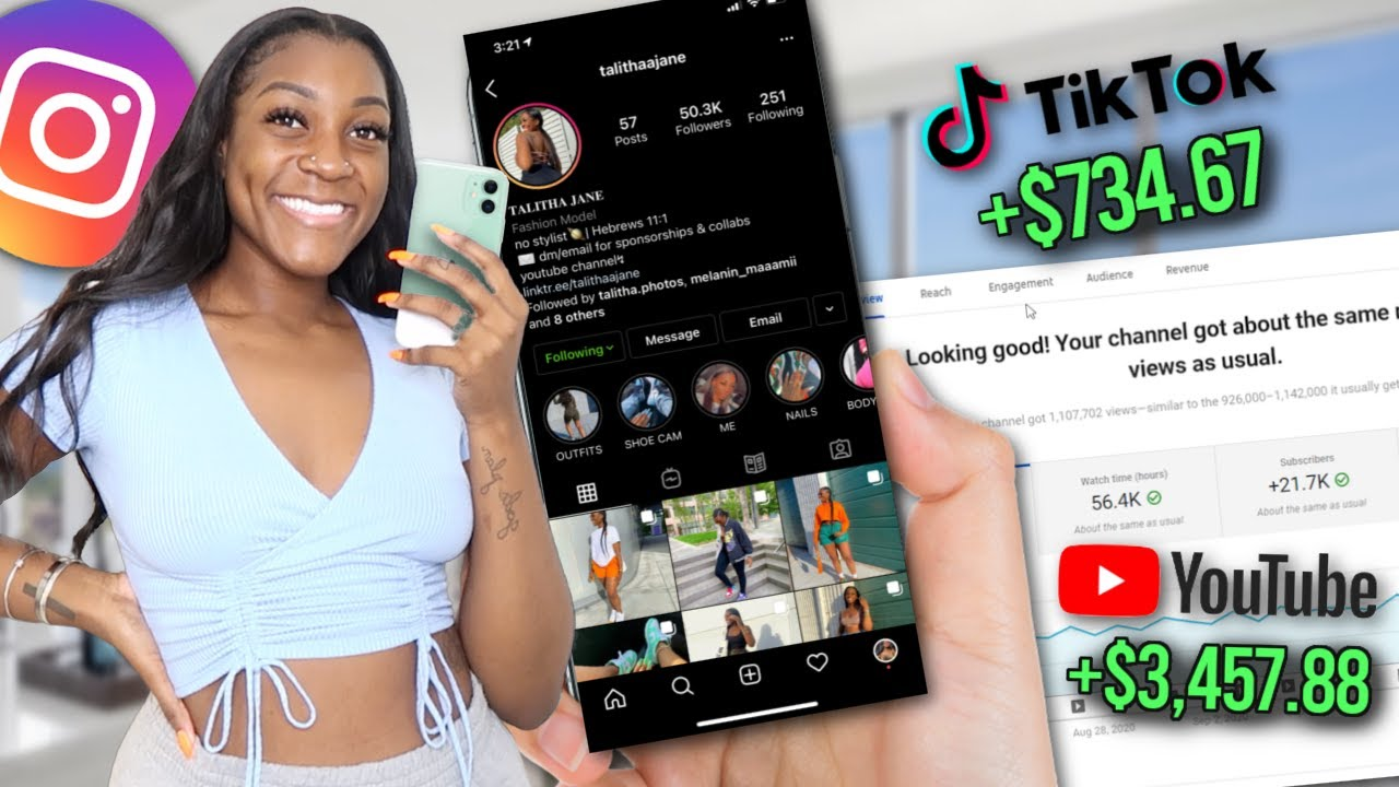 EARN MONEY ONLINE ⎮ how to earn money on social networks without any fans (instagram, tiktok, & youtube) thumbnail