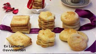 Bisküvi tadında tatlı kurabiye tarifi / Hollanda bisküvisi tarifi / Ev Lezzetleri