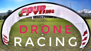 My First Drone Race - GEP TX5 and Wizard X220 - FPVR