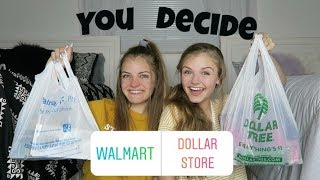 Instagram Followers Choose Dollar Store vs Walmart School Supplies ~ Jacy and Kacy