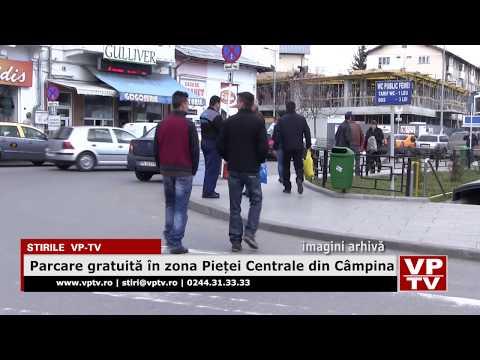 Parcare gratuită în zona Pieței Centrale din Câmpina