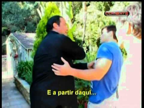 Steven Seagal ensinando à Lyoto Machida