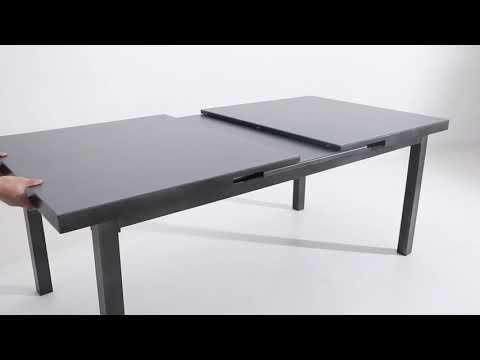 Outflexx Gartentisch in Anthrazit mit Synchronanzug
