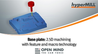 CNC Machining: 2.5D machining with feature and macro technology | hyperMILL