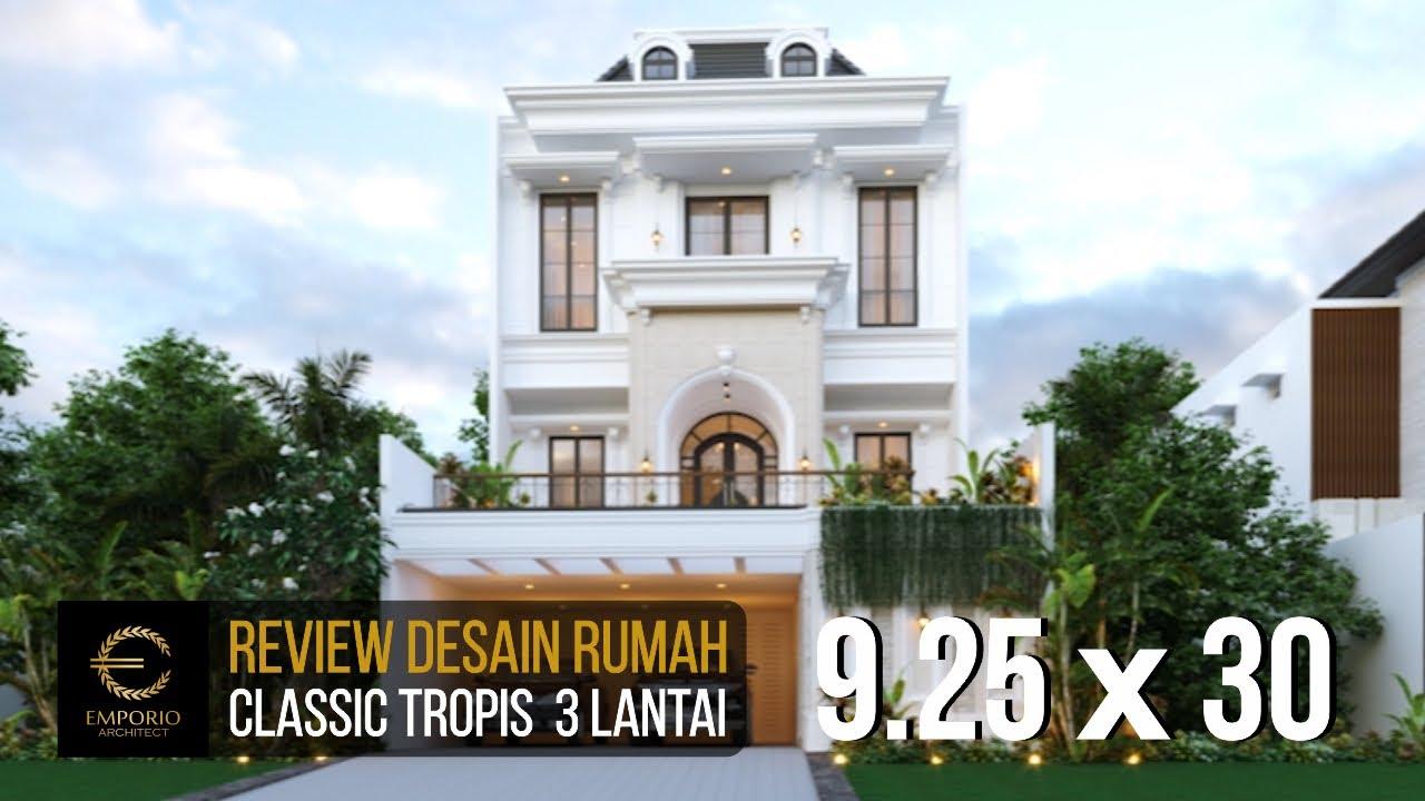 Video 3D Mrs. Tami Classic House 3 Floors Design - Jakarta Timur