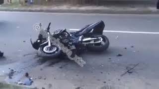 Видео с места гибели двух мотоциклистов в Харькове 10.07.2018