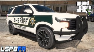 GTA 5 LSPDFR - Blaine County Sheriff - 2021 Chevy Tahoe (NVE)