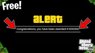 How To Get Your FREE $1,000,000 In GTA 5 Online!