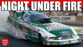 2011 Night Under Fire Funny Cars Drag Racing John Force Video