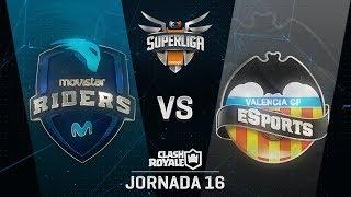 MOVISTAR RIDERS VS VALENCIA CF ESPORTS | SUPERLIGA ORANGE CLASH ROYALE | (Jornada 16)