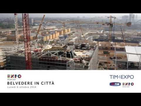Expo Milano 2015: drone in volo sul cantiere 06/10/2014