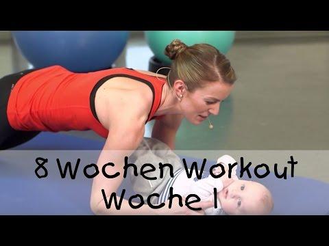 8 Workout für Mutter und Baby (von fitdankbaby) - Woche 1