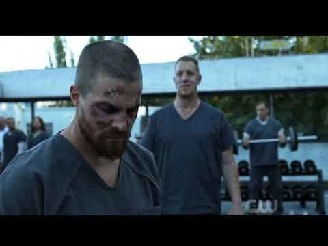 Arrow 7x01 Prison Fight Scene
