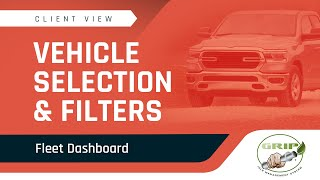 Fleet Dashboard - Vehicle Selection and Filters