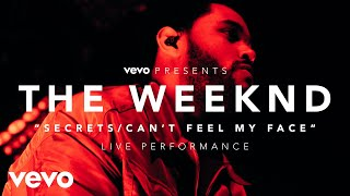The Weeknd - Secrets/Can't Feel My Face (Vevo Presents) an exclusive live performance for Vevo. The Weeknd performed for fans at the LA Hangar Studios on Dec...
