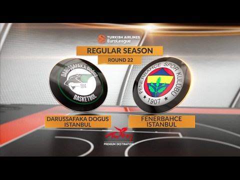 EuroLeague Highlights RS Round 22: Darussafaka Dogus Istanbul 72-65 Fenerbahce Istanbul