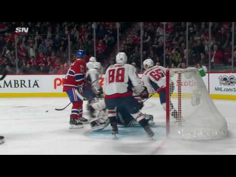 Holtby's quick pad robs Plekanec on the door step