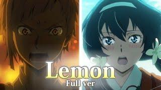 """文豪ストレイドッグスMAD「Lemon」泉鏡花/中島敦Fullver.""""Bungoustraydogs""""MAD"""