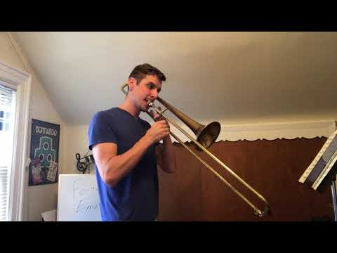 Learn your favorite Fortnite dance on trombone!  Trumpet music also attached in bio!